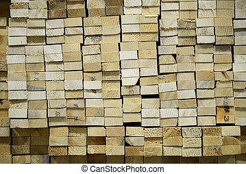 empilé, bois construction