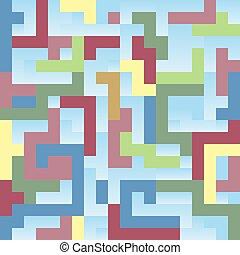 empilé, ensemble, géométrique, unique, figures, fond