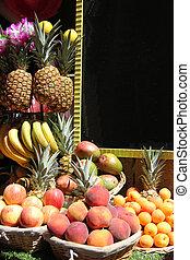 empilé, fruits