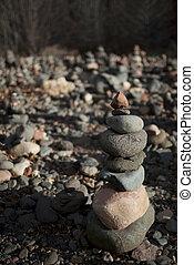 empilé, rochers