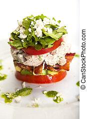 empilé, salade cobb