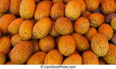 empilé, vente, secteur, melons, montant, grand