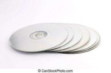 empilhado, discos compactos