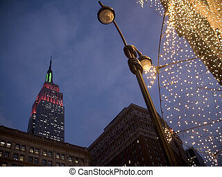 Empire Lights - This is a shot of the Empire State Building...