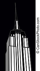 empire new york - illustration of empire state building,...