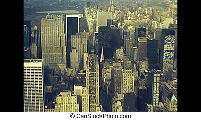 Empire State Building aerial view - Archival Manhattan...