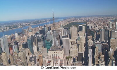empire state building aerial view part IV - aerial view of...