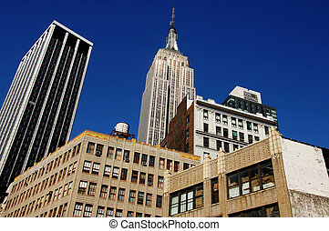 Empire State Building, NYC - Empire State Building rising...