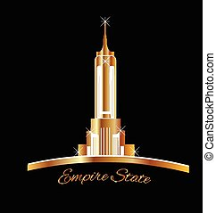 Empire state New York golden logo - Empire state New York...