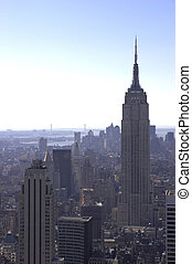 empire state - View of empire state building and downtown...