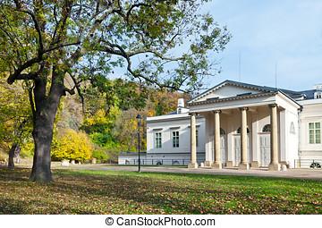 empire style Kinsky palace Musaion, Petrin hill, Prague,...