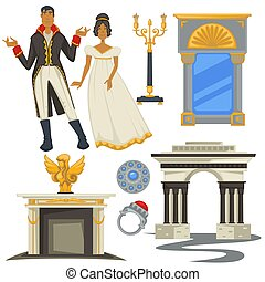 Empire style vintage fashion decor and furniture man and woman