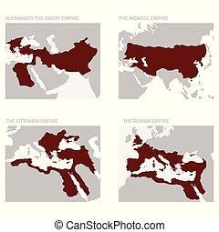 empires, térkép, ősi