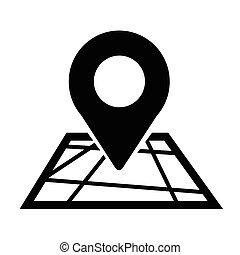 emplacement, épingle, icône