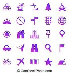emplacement, fond, blanc, icônes, gradient