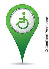 emplacement, handicap