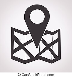 emplacement, icône