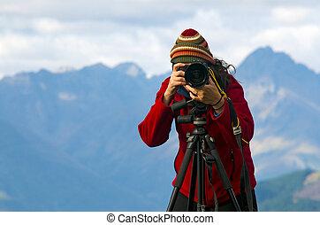 emplacement, photographe