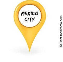 emplacement ville, mexique
