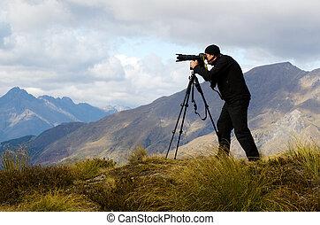 emplacement, voyage, photographe