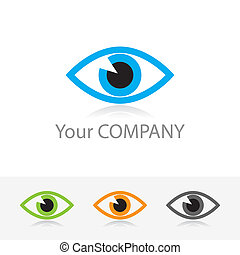 optics - emplate vector corporate logo - ophthalmic optics....