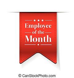empleado, de, el, mes, premio, cinta