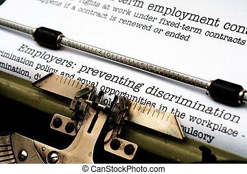 Empleado, discriminación