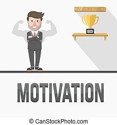 empleado, motivación, ilustración