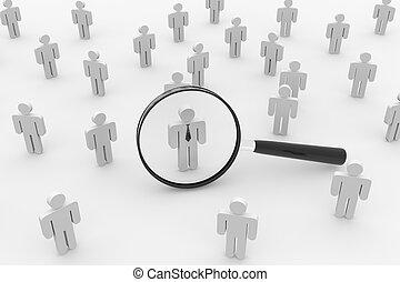 empleado, search., gente