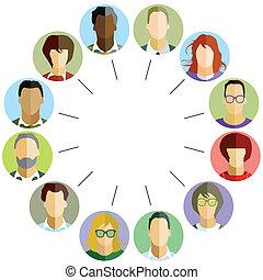 empleados, comunidad