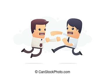 empleados, corporativo, lucha