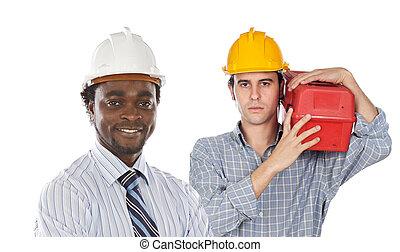 empleados, de, el, construcción