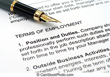 empleo, contrato