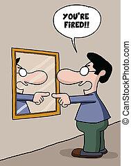 empleo del uno mismo, caricatura