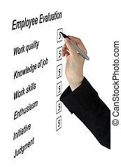 employé, évaluation