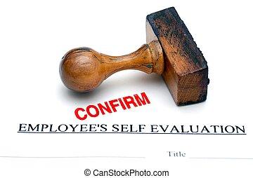 employé, évaluation, formulaire