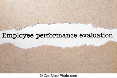 employé, évaluation performances