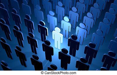 employé, éventuel, figures, people), (symbolic