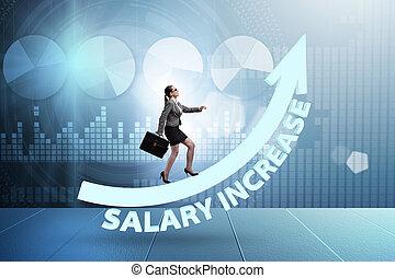 employé, augmentation salaire, concept