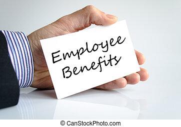 employé, avantages, texte, concept