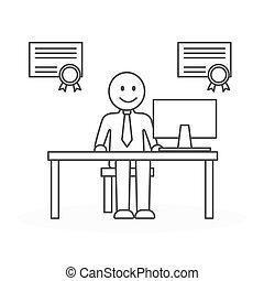 employé, bureau., mieux