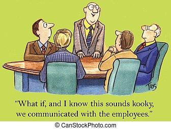 employé, communication