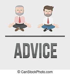employé, conseil, illustration