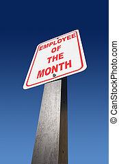 employé, de, les, mois