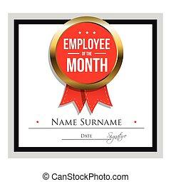 employé, gabarit, certificat, mois