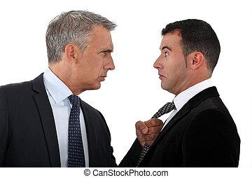 employé, menacer, patron