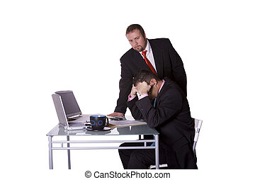 employé, patron, vérification, sien