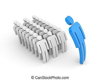 employé, strict, patron, subordinates