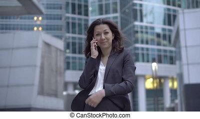 employé, téléphone, bourse, appeler