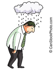 employe, mislukking, stress